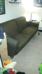 Green Fabric Couch