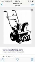 Wanted snowblowers for parts will pay $$$$