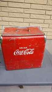 Retro coke cooler. 1950s