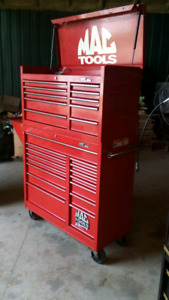 Mac racing tool box & Snap on hardwood top