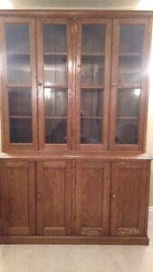 Solid wood antique bookcase
