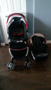 Bucket Seat, Stroller, and Base