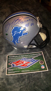 Barry Sanders signed, inscribed & authenticated