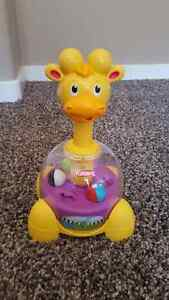 PlaySkool Poppin Park Giraffalaff Tumble Top Toy