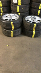 245-45-18 AND 225-40-18 LEXUS RIMS STAGGERED WINTERS