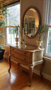 CONSOLE TABLE with 2 drawers - French Country Inspired