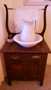 Antique Washstand and basin.