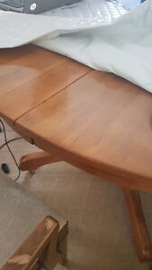 1940's 60 inch round solid wood table from Ireland