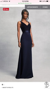 Beautiful Navy dress bridesmaid/holiday party