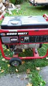 Generator - gas 6000w only 21 hours