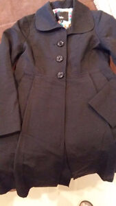 Blk Mossimo Spring/Fall Pleated Coat with Pockets $25 Belleville Belleville Area image 1