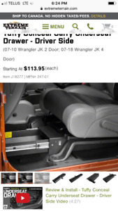Jeep Wrangler gun safe for vehicle