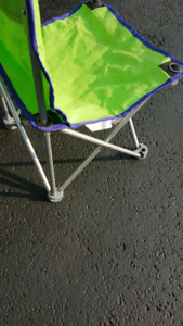 Kids junior  chair camping outside deck