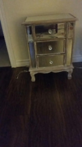 Beautiful mirrored 3 draw table