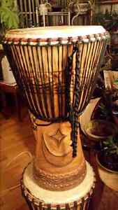 DJEMBE DRUM , Heavy Duty Stand and Carry Bag Cambridge Kitchener Area image 1