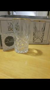 Crystal glasses, dinnerware set and tea set