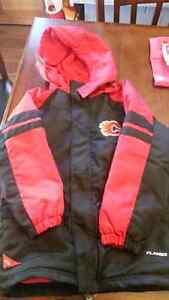 Excellent condition Calgary Flames winter Jacket Cambridge Kitchener Area image 1