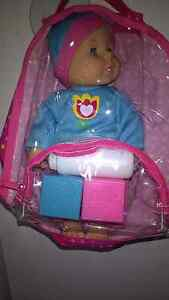 Backpack Baby with Soft Doll Set