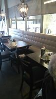 Upholstery service to restaurants booths / chairs