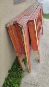 3 premade deck fence/railing sectionsreduced to $120.00 obo