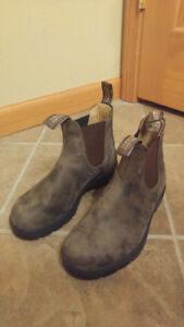 Unisex Classic Rustic Brown Leather Lined Chelsea Boots