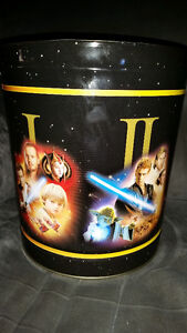 AWESOME LARGE STAR WARS METAL CANS SHOWS ALL 6 MOVIES!!!!!!!!!!! London Ontario image 2