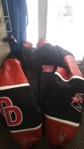 Duffield devils varsity jacket and hat