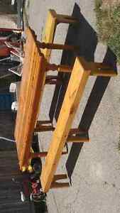 Wanted: LARGE OLD PINE HARVEST TABLE AND BENCHES AND CHAIRS Oakville / Halton Region Toronto (GTA) image 2