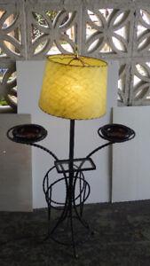 VINTAGE Lampe en fer forgé