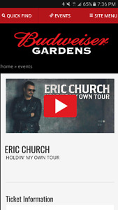4 tickets to Eric Church