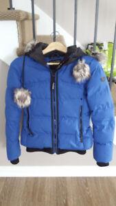 manteau noize femme bleu neuf ( vegan)