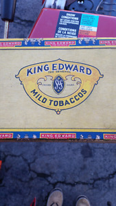 Vintage King Edward tobacco box
