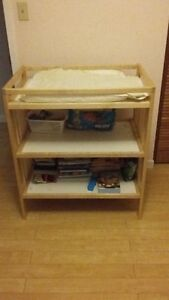 Changing table with pad included