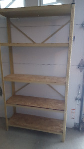 Shelf for garage, shed or basement
