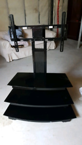 New Black 3 Tiered TV Stand
