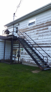 METAL STAIRS AND DECK