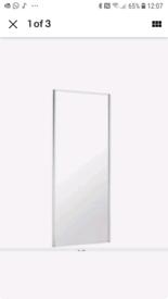 BRAND NEW B&Q SpacePro grey silver sliding mirror wardrobe door