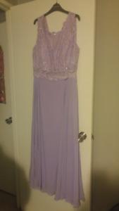 Lilac Plus Size Dress floor length