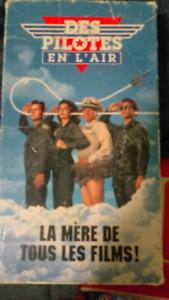 Film VHS en français. Des Pilotes en l'air
