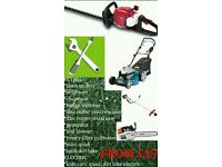 Hello repair for only £15 each petrol lawn mower, strimmer, chainsaw, hedge trimmer and more...