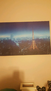 Light up wall picture of Paris