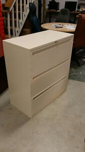 3Drawer Lateral Filing Cabinet - Beige Finish