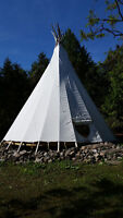 Romantic Island TeePee for Your Fall Escape! Don't Miss Out!