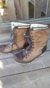 Leather & Suede Converse Boots