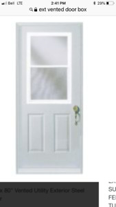 32 inch vinyl clad doorand box brand new