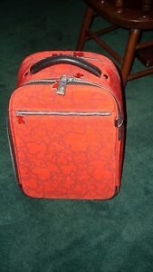 Tous Red Carry On Suitcase