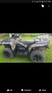 2014 Can Am Outlander 800 MAX XT Mossy Oak w/ winch, hand warmer