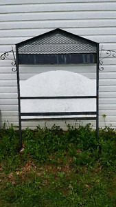 Steel Sign Stand Outdoors