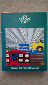 1978 Dodge Colt Plymouth Colt Repair Manual / Service Manual