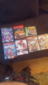 6 ps2 games, 1 ps3 game and one ps1 game